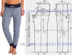 Los pantalones femeninos deportivos.\u000a#простыевыкройки #простыевещи #шитье #спортивныештаны #выкройка