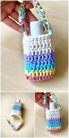Knitting Projects, Crochet Projects, Knitting Patterns, Crochet Patterns, Crochet Coin Purse, Crochet Purses, Crochet Cozy, Free Crochet, Diy Sanitisers