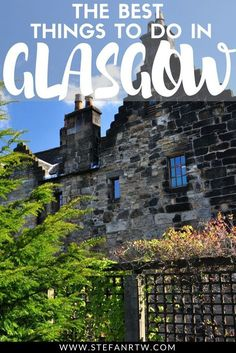Planning a trip to Scotland? In this post I want to share with you some of the best things to do in Glasgow during your trip. Glasgow is one of the most beautiful cities in Scotland and it's definitely worth visiting if you're planning a trip to the United Kingdom. In this Glasgow itinerary I share some of the best things to do, places to see, and areas to explore in Glasgow that you don't want to miss! #glasgow #scotland