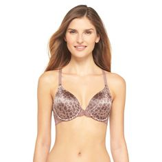 Maidenform Pure Genius T-Back Bra with Lace 7112 - Animal Print 40C, Plush Animal