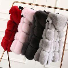 Winter Korea Style Real Whole Skin Fox Fur Vest Geunine Waistcoat Hoodyjacket