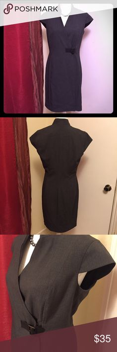 Calvin Klein GREY Professional Wrap Dress This beautifully tailored dress would be perfect for an office or court environment. It doesn't have any signs of wear or damage. Please inquire with any questions! Calvin Klein Dresses