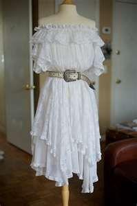 Off-shoulder Vintage Gypsy Dress - SOO PRETTY!!