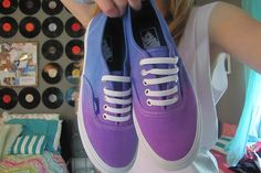 blue + purple vans //