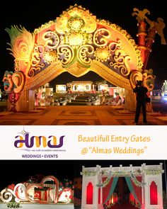 Beautiful Entry Gates @Almas Wddings