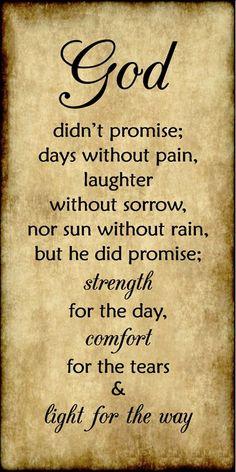 God didn't promise