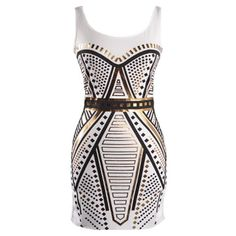 Foiled Geometry Dress ($80) ❤ liked on Polyvore
