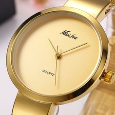 4dea14abd8f Missfox 2190 Golden Watch Woman Quartz Watch Ladies Watch Top Brand Luxury Girl  Clock Steel Bracelet Watch New Relogio Feminino