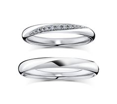 18K White Gold Couple Wedding Band Wedding Band Couple by Mirabess