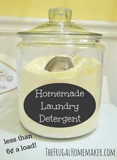 Detergent Recipes and Tutorials Save money with this easy homemade laundry detergent recipe using only four ingredients.Save money with this easy homemade laundry detergent recipe using only four ingredients. Homemade Cleaning Products, Cleaning Recipes, Natural Cleaning Products, Cleaning Tips, Green Cleaning, Cleaning Supplies, Cleaning Solutions, Laundry Solutions, Cleaning Schedules