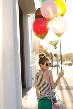 DIY Confetti Dipped Balloons | Studio DIY®