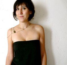 Shoulder jewelry ( body chain, multi chains, womens, fall acessory, leaf, botanical, harness, goddess ) 11