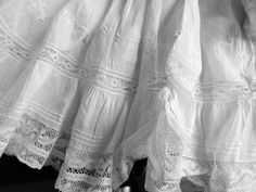 Antique White Cotton Lace Embroidered Doll Dress for Antique French or from underthelilacs on Ruby Lane