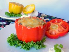 Tattooed Martha - Black Bean and Quinoa Stuffed Peppers--easily veganized w veg broth and vegan cheese Healthy Soup Recipes, Vegetarian Recipes, Cooking Recipes, Vegetarian Dinners, Protein Recipes, Vegan Dinners, Cilantro Lime Quinoa, Quinoa Stuffed Peppers, Complete Protein