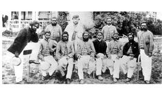 The first international cricket match took place in 1844 between Canada and America, while the first foreign side to tour England came from Australia in 1868. The Australian team (pictured) was made up of Aborigines who had adopted the sport after seeing it played by white farm workers in Western Australia.