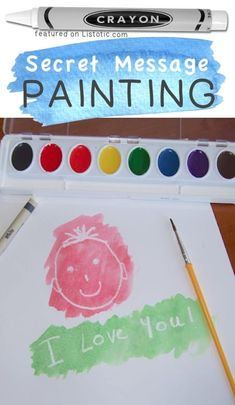 A fun watercolor idea for kids. -- A ton of DIY super easy kids crafts and activities for boys and girls! Quick, cheap and fun projects for toddlers all the way to teens… Crafts For Kids To Make, Easy Diy Crafts, Creative Crafts, Projects For Kids, Kids Crafts, Simple Crafts, Art Crafts, Craft Projects, Craft Ideas
