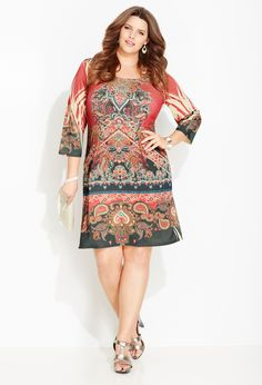 Statement Print Sheath Dress | Plus Size Dress Clearance | Avenue