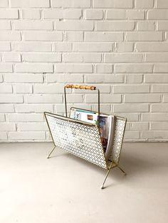 Vintage Zeitschriftenständer, Zeitungsständer Mategot Ära, 50ziger Jahre, Mid century Magazin Ständer, vintage interior von moovi auf Etsy