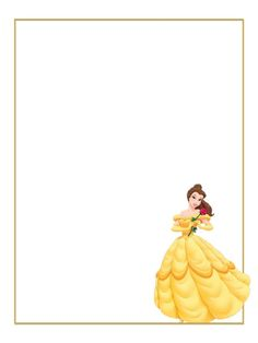 """Belle - yellow dress - rose - Project Life Journal Card - Scrapbooking ~~~~~~~~~ Size: 3x4"""" @ 300 dpi. This card is **Personal use only - NOT for sale/resale** Logo/clipart belongs to Disney. *** Click through to photobucket for more versions of this card ***"""