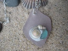 Lavender Sea Glass and Sterling Necklace by SignsCapeCodDesigns, $35.00