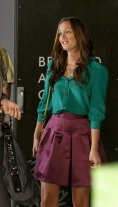 Blouse and A line skirt
