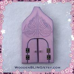 Fairy Door Fairy Garden Unique Pink Fairy Door by WoodenBLING
