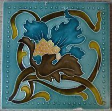 ANTIQUE ENGLAND - ART NOUVEAU MAJOLICA TILE C1900