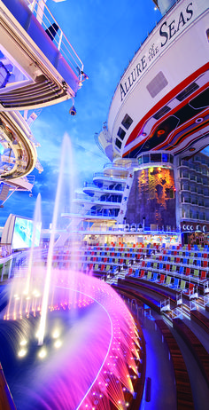 big-ship honeymoon cruise for cruise fanatics. Um, this floating resort has water shows with aerial acrobats! royal Caribbean is the best! Cruise Travel, Cruise Vacation, Dream Vacations, Vacation Spots, Family Cruise, Travel Money, Best Honeymoon, Honeymoon Destinations, Honeymoon Cruises