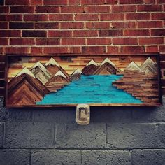 Reclaimed Wood Wall Art, Woodworking Crafts, Really Cool Stuff, Diy And Crafts, Art Pieces, Hobbies, Crafting, Painting, Nice