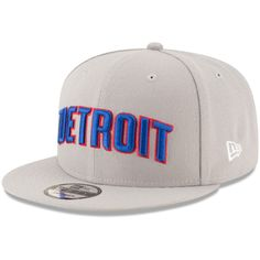 Men s Detroit Pistons New Era Gray Statement Edition 9FIFTY Snapback Hat f779626c3cab