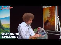 Bob Ross - Island in the Wilderness. Take a walk with Bob Ross down a little lakeside path in a secluded place; Painting Lessons, Art Lessons, Pinturas Bob Ross, Bob Ross Youtube, Robert Ross, Bob Ross Art, Ross Island, Bob Ross Paintings, The Joy Of Painting