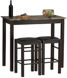 Looking for a 3 piece bistro set for the small space in our kitchen.  This is cute!