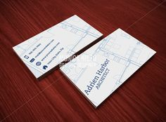 Printable Architect Business Card Template by MonicaGraphicDesign