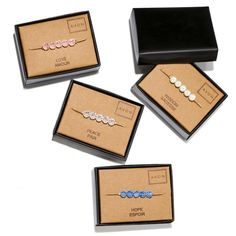 Add a bit of meaning behind your jewelry style. A delicate Goldtone chain bracelet with beads in a color representing a meaningful word. Comes in a unique gift box. Regularly $14.99, buy Avon Jewelry online at http://eseagren.avonrepresentative.com