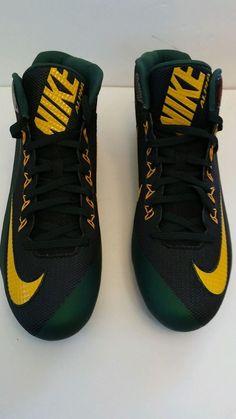 Nike alpha pro 2 TD mid Football cleats 719932-101 Green/Black, men's