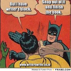 Batman fights crime and writer's block.
