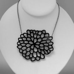 Black Dahlia necklace