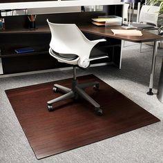 eco bamboo standard rectangular cherry chair mat 52 x 48 by jani
