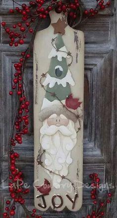 Santa Wooden door or wall hanging