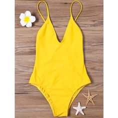 High Cut V Neck One Piece Swimsuit (840 INR) ❤ liked on Polyvore featuring swimwear, one-piece swimsuits, 1 piece bathing suits, v neck one piece swimsuit, v neck swimsuit and v neck bathing suits