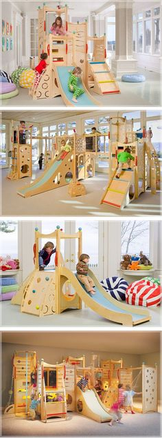 Awesome indoor play area! - Okay, this is amazing...all the kids would want to come over!: