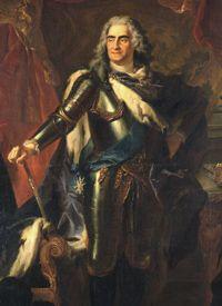 Staatliche Kunstsammlungen Dresden.    Bildnis August des Starken von Louis de Silvestre (Detail), Gemäldegalerie Alte Meister