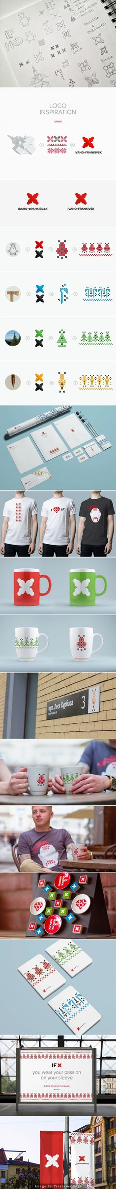 Ivano-Frankivsk (IF) 브랜드 로고를 이용해 제작한 티셔츠, 수첩, 머그잔 등등 너무 예쁨