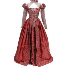 Shakespeare In Love Dress - edited by thestars-themoon ❤ liked on Polyvore featuring dresses and red dress
