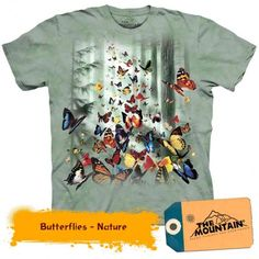 Butterfly Shirt Tie Dye T-shirt Butterflies Adult Tee Wildlife Shirts Animal T-Shirts Tee Available in Small, Medium, Large, XL, & Officially Tie Dye T Shirts, Tee Shirts, Biker, Steampunk, Butterfly Shirts, Butterfly Kids, Monarch Butterfly, Plus Size T Shirts, Tshirts Online
