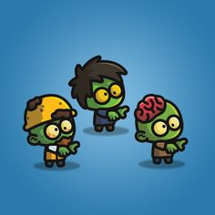 Tiny Zombies - A 3 Pack 2D Zombie Character Sprite for Game | TokeGameArt