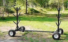 Pole Caddy Trailer for Jump Courses and Trail Courses