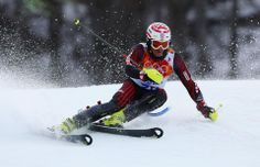 DAY 16:  Dalibor Samsal of Croatia competes during the Alpine Skiing Men's Slalom http://sports.yahoo.com/olympics