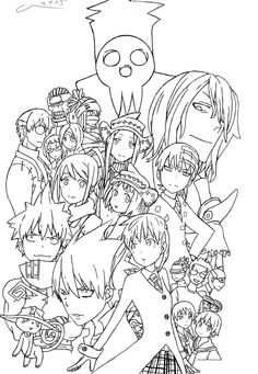 coloring pages of soul eater - photo#28