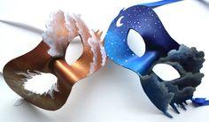 Twin Skies  2 handmade leather masks by OakMyth on Etsy, $85.00